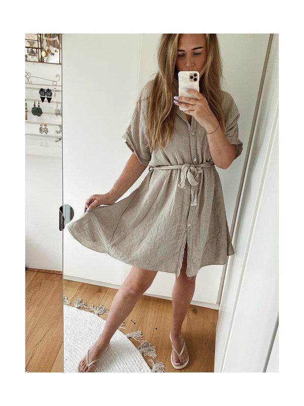 By Sara Collection Nola Dress Soft Grey