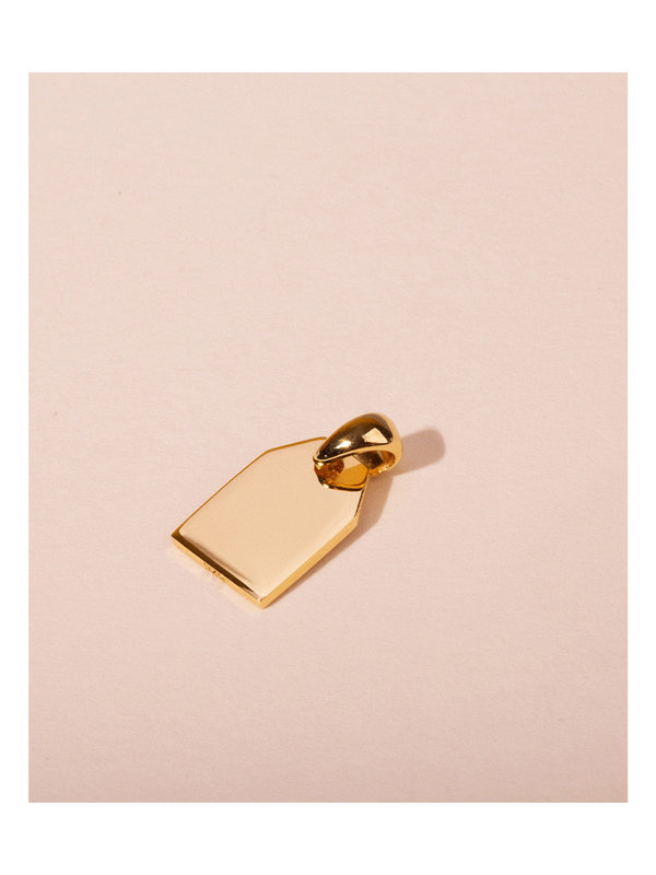 Galore Initial Tag Gold & Silver