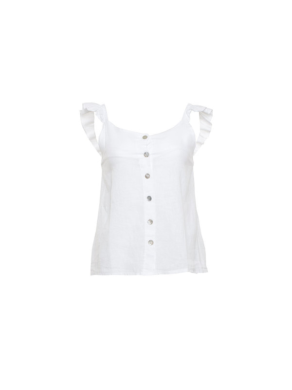 By Sara Collection Selma Top Wit
