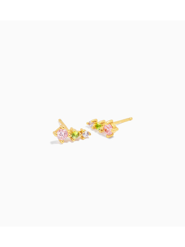 Eline Rosina Paradise Cone Earring Gold Plated