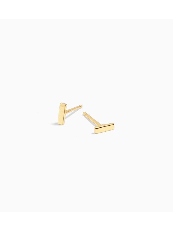 Eline Rosina Mini Bar Earring gold Plated