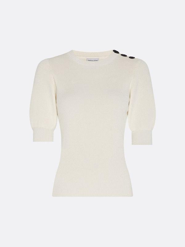 Fabienne Chapot Lillian Short Sleeve Pullover Cream White
