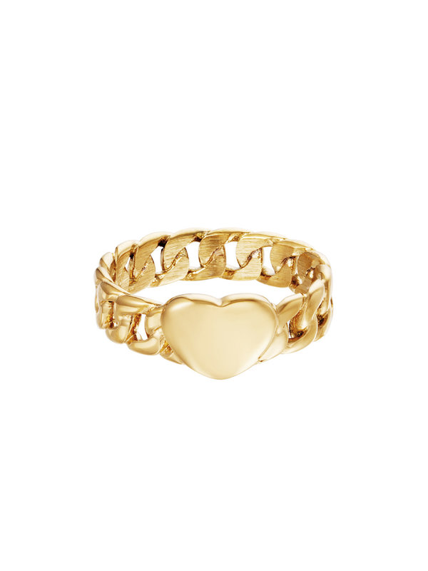 By Sara Collection Ring Chained Heart
