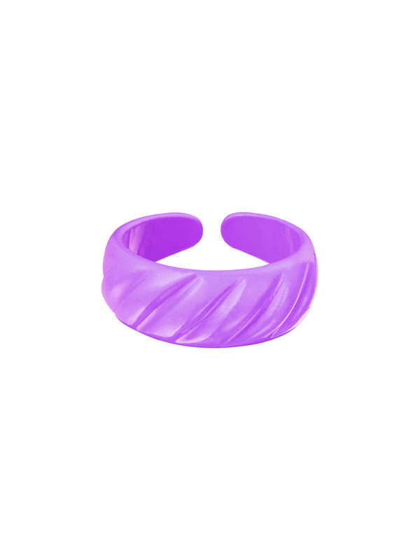 By Sara Collection Candy Ring Lila One Size