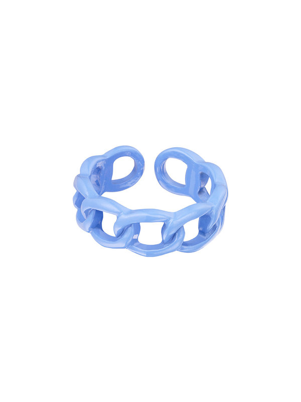 By Sara Collection Candy Ring Knot Licht Blauw