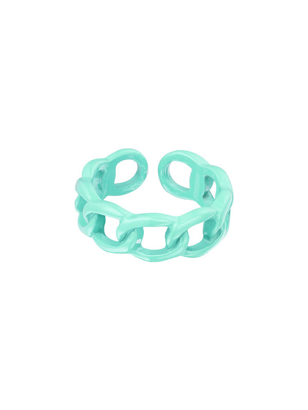 By Sara Collection Candy Ring Knot Zeegroen