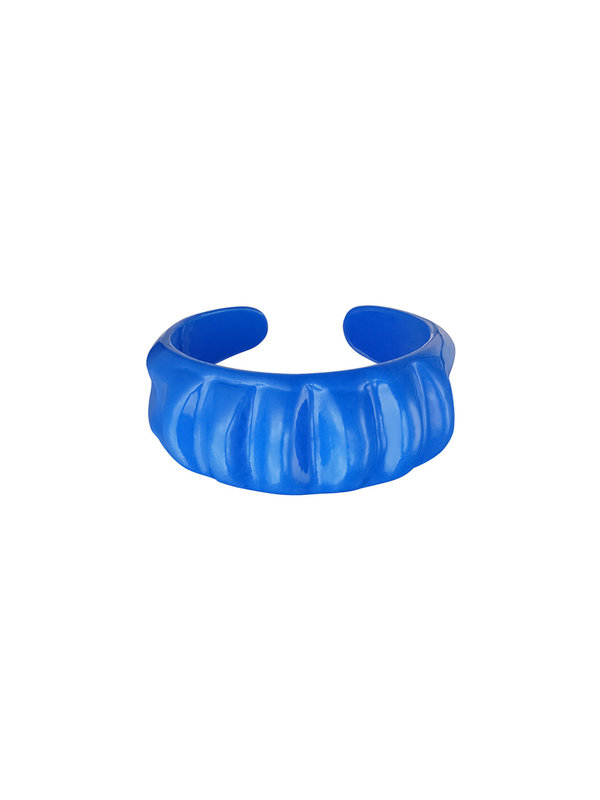 By Sara Collection Candy Ring Groot Blauw