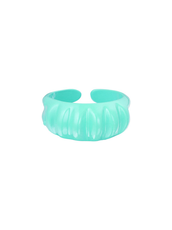 By Sara Collection Candy Ring Groot Zeegroen