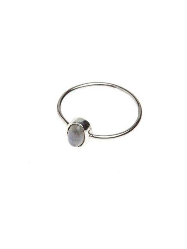 Xzota Ring Moonstone Oval Silver