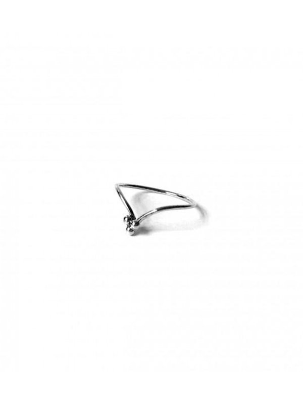 Xzota Ring 3 Dots Curve Silver