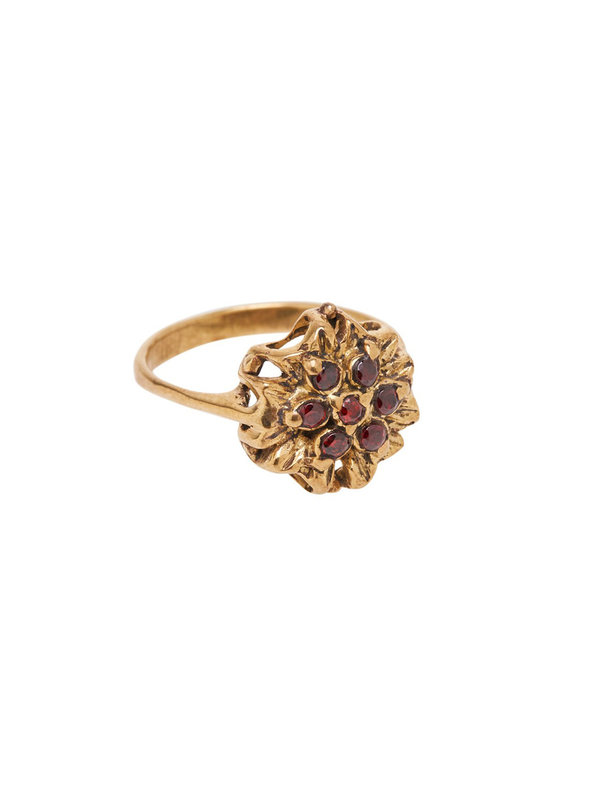 Xzota Ring Vintage Flower Brass