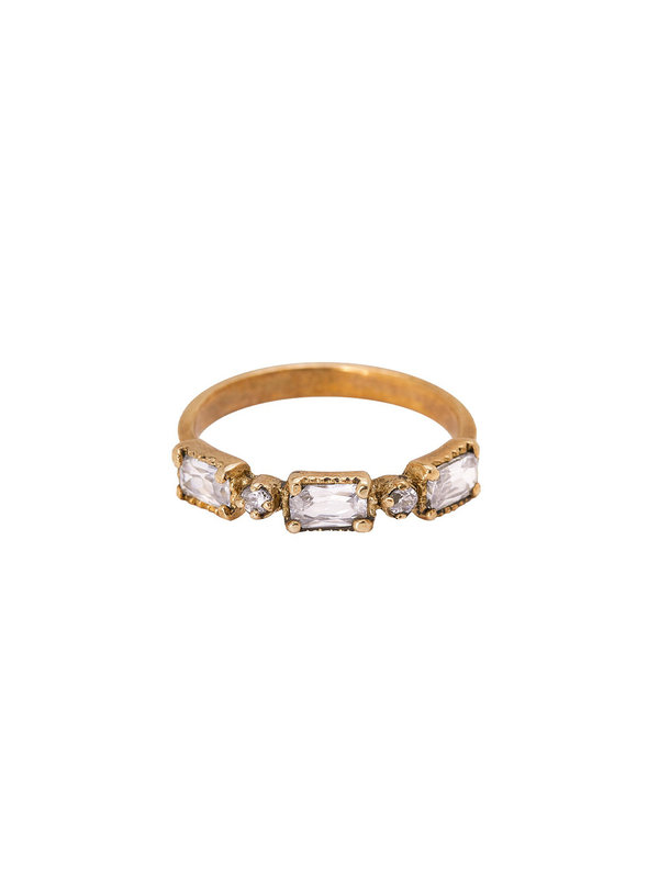 Xzota Ring Auquamarine Brass