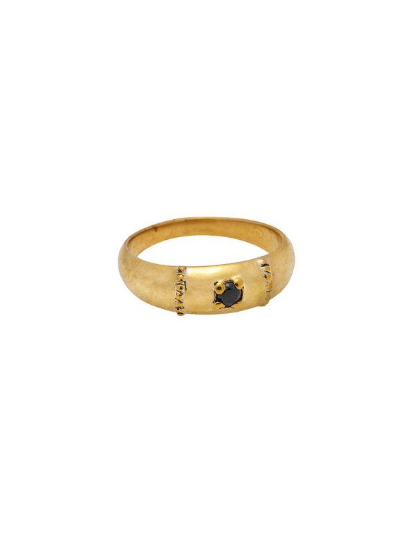 Xzota Ring Molly Onyx Brass