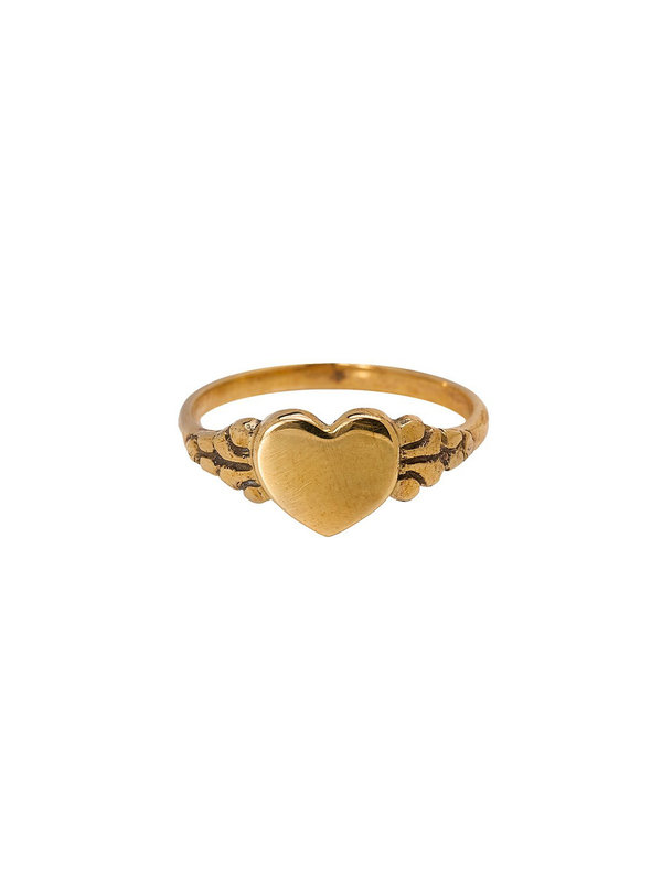 Xzota Ring Love Brass