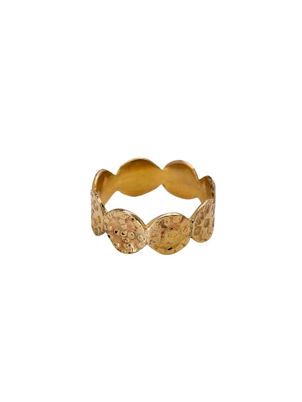 Xzota Ring Tiny Rounds Brass