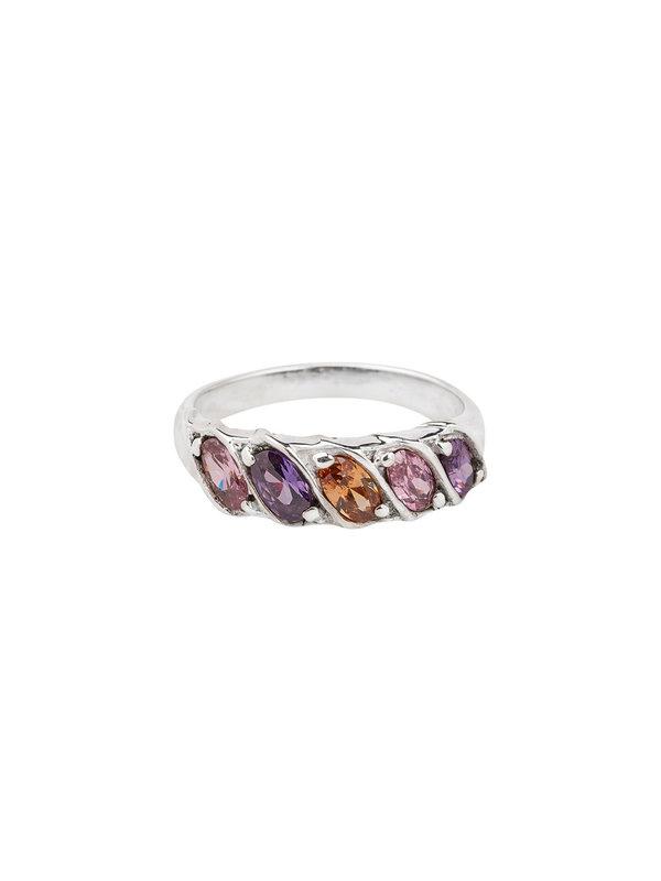 Xzota Ring Rainbow Silver