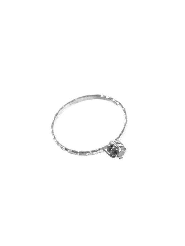 Xzota Ring Black Zircon Silver
