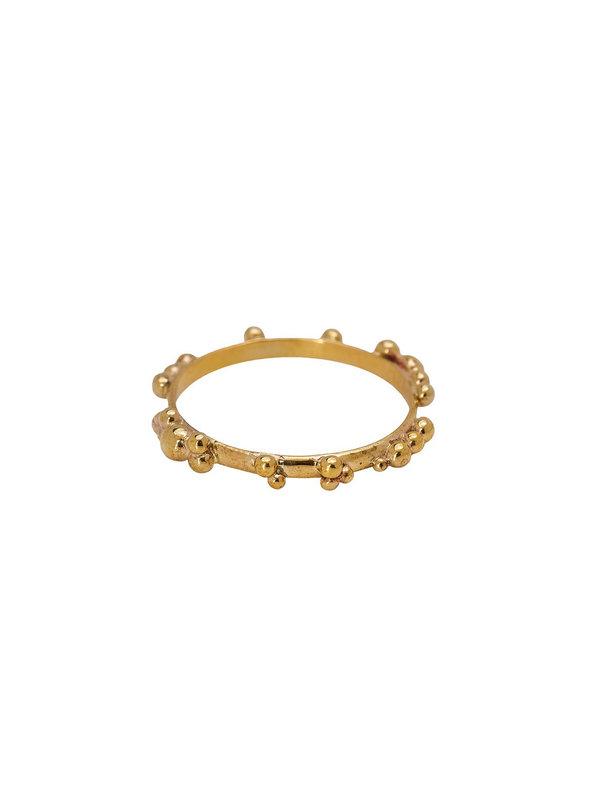 Xzota Ring Tiny Dots Brass