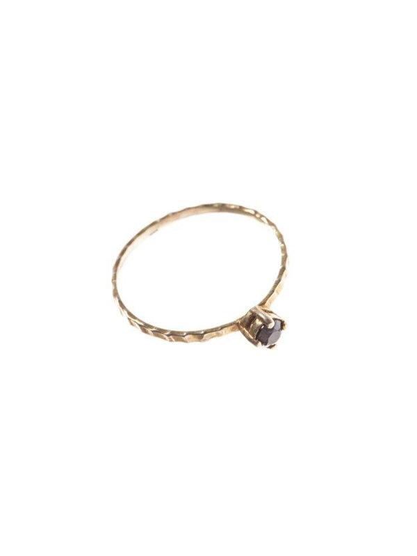 Xzota Ring Black Zirconia Brass