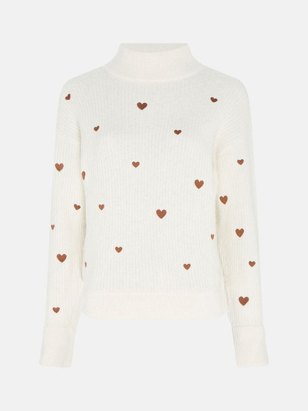 Fabienne Chapot Oliviana Pullover Cream White/Cognac