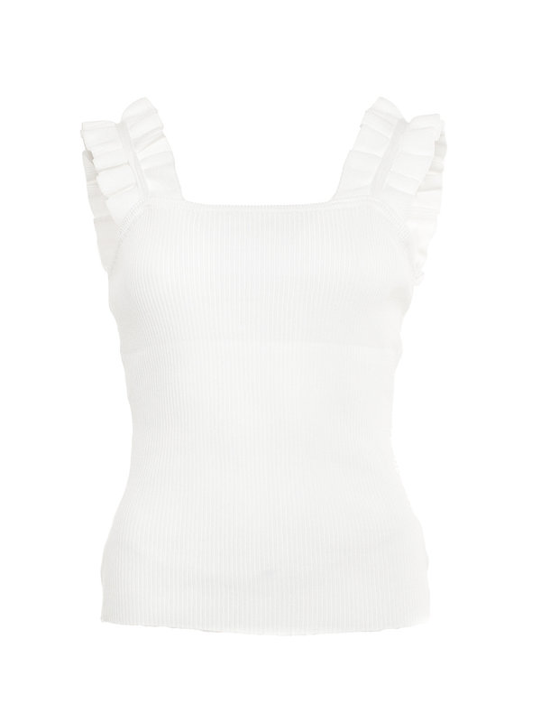 By Sara Collection Harper Ruffle Top Wit
