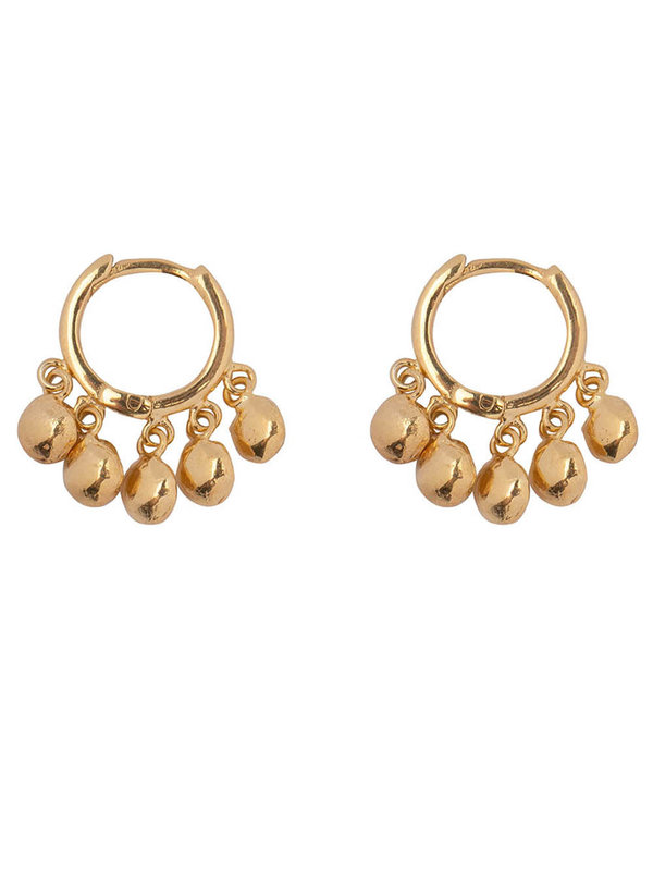 Betty Bogaers Hoop 5 Coins Click Earring Gold Plated