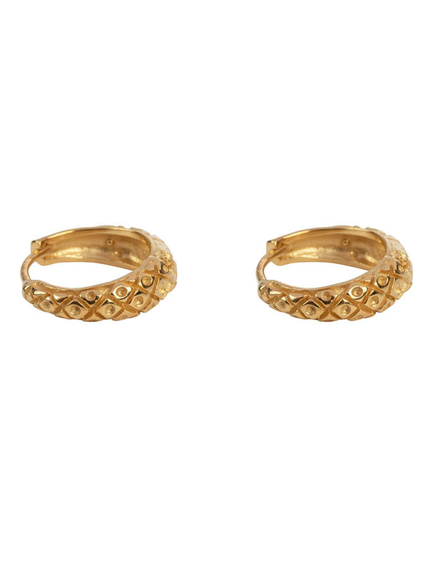 Betty Bogaers Small Crossed Hoop Earring Gold Plated