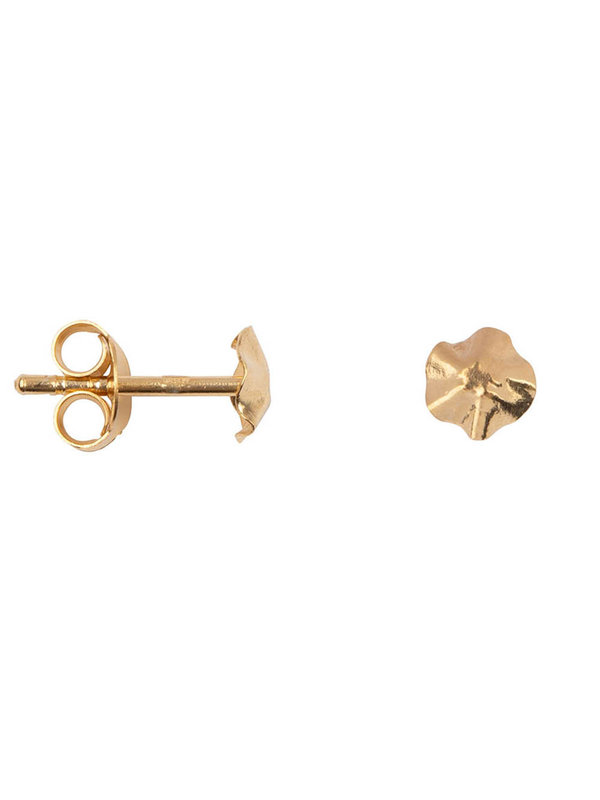 Betty Bogaers Folded Round Mini Stud Earring Gold Plated