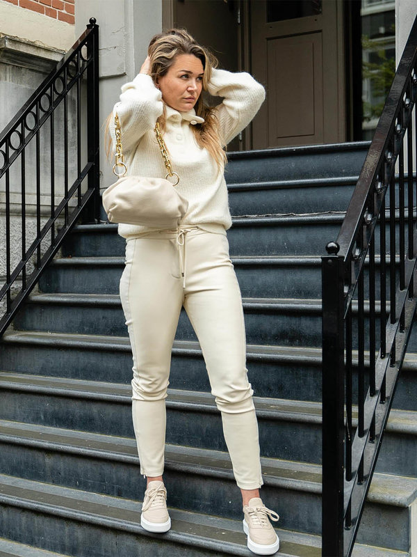 By Sara Collection Tansy Knit Off White
