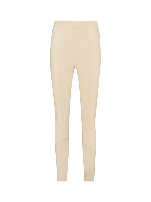 Aaiko Pheline Leather Pants Beige