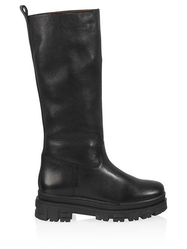 DW\\RS OMSK Bikerboots Black Leather
