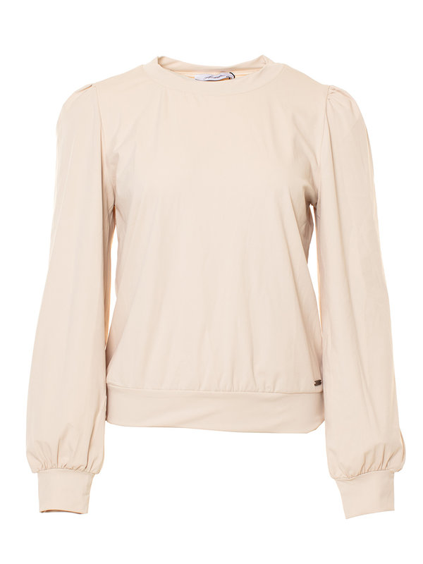 By Sara Collection Top Syrah Beige