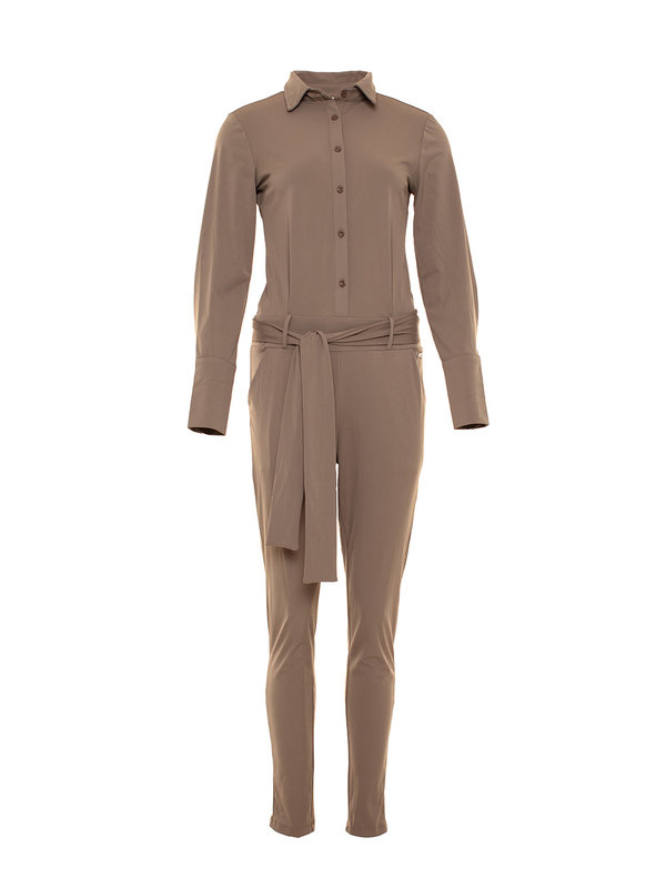 By Sara Collection Jumpsuit Veerle Taupe