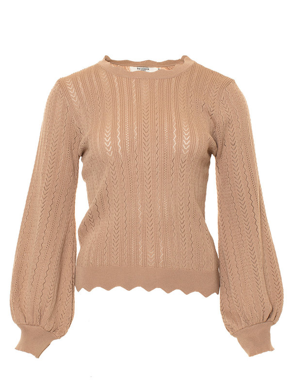 By Sara Collection Levis Top Nude