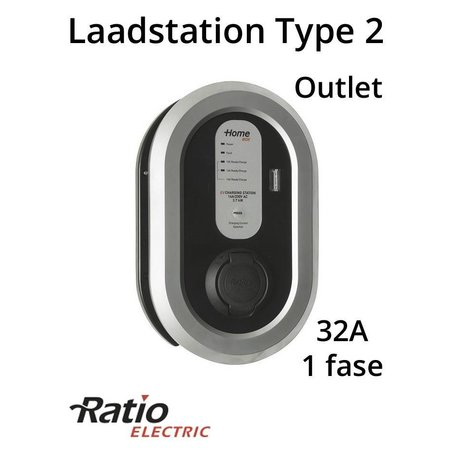 Ratio EV Home Box Laadstation type 2 Outlet 1 fase 32A