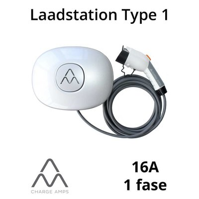 Charge Amps Halo Laadstation type 1, 1 fase 16A - Schuko