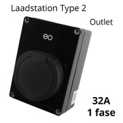 EO Mini Laadstation type 2 Outlet 32A Zwart