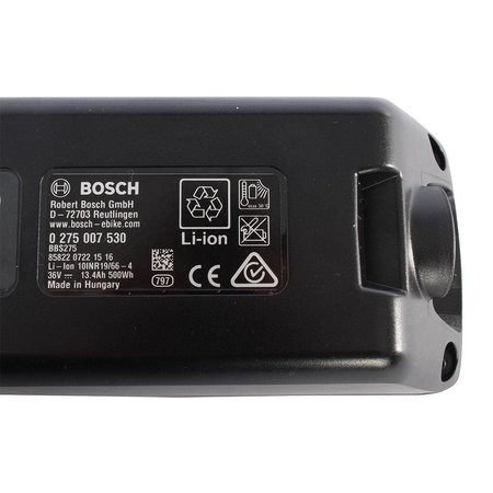 Bosch Accu 36V PowerPack 500 Performance - Frame - 13,4Ah - 482Wh Antraciet