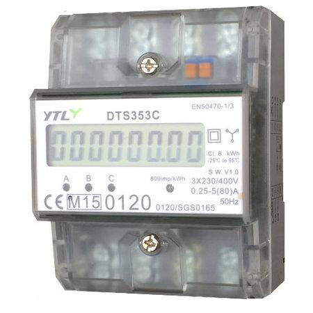 EMAT kWh meter 80A 3-fase Dinrail Digitaal MID GEKEURD