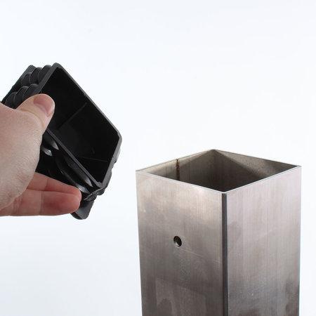 EO Roestvrijstalen paal voor EO Genius en EO Basic - Vierkant Enkel