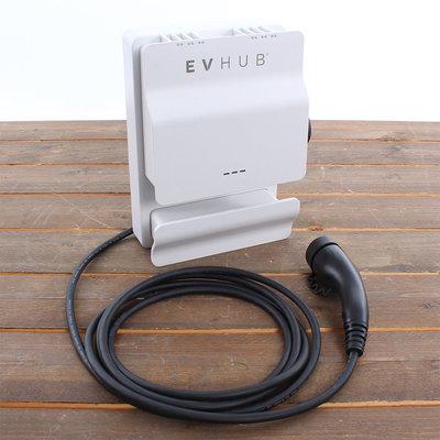 EVHUB Laadstation type 2, 16A, 1 of 3 fase, rechte laadkabel