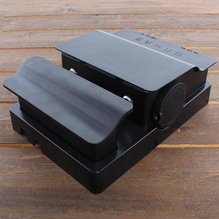 EVHUB Laadstation type 2, 16A, 1 of 3 fase, Outlet - Zwart