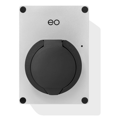 EO Mini Pro 2 Laadstation type 2 Outlet 32A Zilver/ Grijs