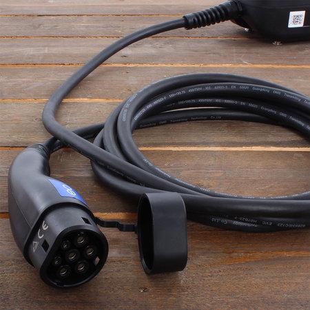 EO Basic Laadstation type 2 - 3 fase 32A - Zwart - Vaste kabel