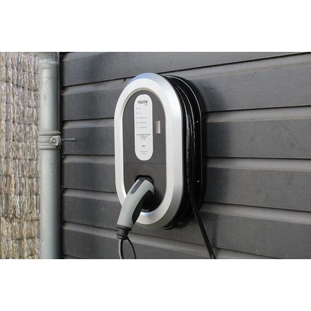 Ratio EV Home Box Plus Laadstation type 2, 1 fase 16A met 10 meter vaste rechte laadkabel + KWh meter