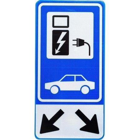 Parkeerbord voor 2 Elektrische Auto's