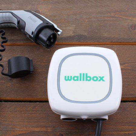 Wallbox Pulsar Plus 7,4 kW - EV Laadstation Wit type 1, 32A met vaste rechte laadkabel