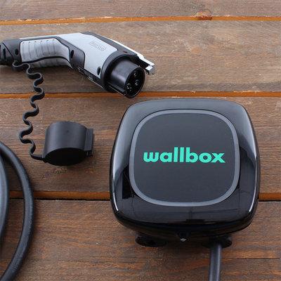 Wallbox Pulsar Plus 7,4 kW - EV Laadstation Zwart type 1, vaste laadkabel