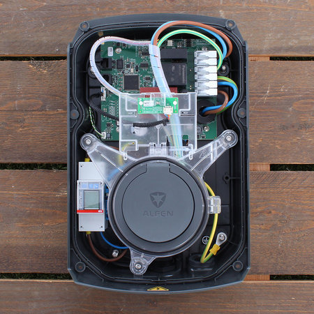 Alfen  Eve Single S-line - 3 x 16A (11kW) - Loadbalancing - Grijs - Socket