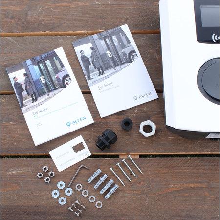 Alfen  Eve Single Pro-line - 3 x 32A (22kW) - Socket - RFID - E-Flux - Grijs